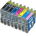 Remanufactured Epson 48 Series (T048 Bulk Set of 8 Packs) Inkjet Cartridges for Stylus Photo Printers
