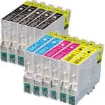 Remanufactured Epson 60 Series (T060 Bulk Set of 11 Packs) Inkjet Cartridges for Stylus Printers
