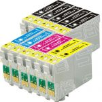 Remanufactured Epson 68 Series (T068 Bulk Set of 11 Packs) Inkjet Cartridges for Stylus,Workforce Printers