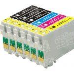 Remanufactured Epson 69 Series (T069 Bulk Set of 6 Packs) Inkjet Cartridges for Stylus,Workforce Printers