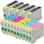 Remanufactured Epson 77/78 Series (T077/T078 Bulk Set of 15 Packs) High Capacity Inkjet Cartridge for Stylus Photo Printers