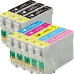 Remanufactured Epson 77/78 Series (T077/T078 Bulk Set of 8 Packs) High Capacity Inkjet Cartridge for Stylus Photo Printers