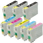 Remanufactured Epson 79 Series (T079 Bulk Set of 8 Packs) High Capacity Inkjet Cartridges for Stylus Photo 1400 Printer