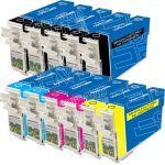 Remanufactured Epson #124 Bulk Set of 11-Pack Moderate Yield Ink Cartridges: 5 Black (T124120), 2 Cyan (T124220), 2 Magenta (T124320) & 2 Yellow (T124420)