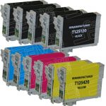 Remanufactured Epson #125 Bulk Set of 11-Pack Standard Yield Ink Cartridges: 5 Black (T125120), 2 Cyan (T125220), 2 Magenta (T125320) & 2 Yellow (T125420)