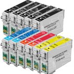 Remanufactured Epson #126 Bulk Set of 11-Pack High Yield Ink Cartridges: 5 Black (T126120), 2 Cyan (T126220), 2 Magenta (T126320) & 2 Yellow (T126420)