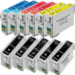 Remanufactured Epson #127 Bulk Set of 11-Pack Extra High Yield Ink Cartridges: 5 Black (T127120), 2 Cyan (T127220), 2 Magenta (T127320) & 2 Yellow (T127420)