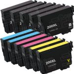 Remanufactured Epson #200XL T200XL (Bulk Set of 11) High Yield Ink Cartridges:  5 Black (T200XL120), 2 Cyan (T200XL220), 2 Magenta (T200XL320), 2 Yellow (T200XL420)