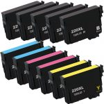 Remanufactured Epson #220XL / T220XL- (Combo Pack of 11) High Yield Ink Cartridge: 5 Black, 2 Cyan, 2 Magenta, 2 Yellow