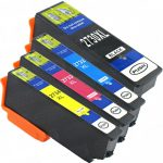 Remanufactured Epson #273XL / T273XL (Set of 4) High Yield Ink Cartridge: 1 Black, 1 Cyan, 1 Magenta & 1 Yellow