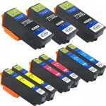 Remanufactured Epson #273XL / T273XL (Set of 9) High Yield Ink Cartridge: 3 Black, 2 Cyan, 2 Magenta & 2 Yellow