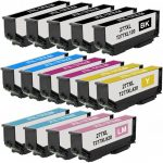 Remanufactured Epson #277XL / T277XL (Bulk Set of 15) High Yield Ink Cartridge: 5 Black, 2 Cyan, 2 Magenta, 2 Yellow, 2 Light Cyan, 2 Light Magenta
