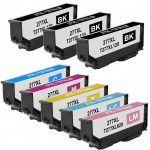 Remanufactured Epson #277XL / T277XL (Bulk Set of 8) High Yield Ink Cartridge: 3 Black, 1 Cyan, 1 Magenta, 1 Yellow, 1 Light Cyan, 1 Light Magenta