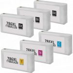 Remanufactured Epson 786XL (T786XL) High Yield Ink Cartridge (Bulk Set of 6):  3 Black, 1 Cyan, 1 Magenta, 1 Yellow
