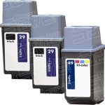 Hewlett Packard HP 29 (51629A) 2-PK Black & HP 49 (51649A) 1-PK Tri-Color (Combo-Pack of 3) Replacement Ink Cartridge