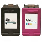 Hewlett Packard (HP 61XL Combo Pack of 2) CH563WN Black & CH564WN Color High Yield Replacement Ink Cartridge