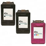 Hewlett Packard (HP 61XL Combo Pack of 3) CH563WN Black & CH564WN Color High Yield Replacement Ink Cartridge