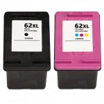 Replacement for Hewlett Packard HP 62XL (Combo Pack of 2) Ink Cartridges:  1 Black (C2P05AN), 1 Color (C2P07AN)
