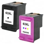 Replacement for Hewlett Packard HP 63XL (Combo-Pack of 2) High Yield Inkjet Cartridge:  1 Black (F6U64AN) & 1 Color (F6U63AN)