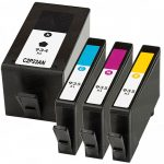 Replacement for Hewlett Packard HP 934XL / 935XL (Set of 4) High Yield Ink Cartridge: 1 Black, 1 Cyan, 1 Magenta, 1 Yellow