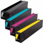 Replacement for Hewlett Packard HP 970XL & HP 971XL Bulk Set of 4 High Yield Ink Cartriges: (Black CN625AM, Cyan CN626AM, Magenta CN627AM, Yellow CN628AM)