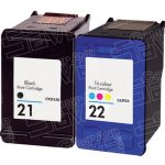 Hewlett Packard C9351AN Black & C9352AN Tri Color (HP 21 & HP 22 Combo-Pack of 2) Replacement Ink Cartridge