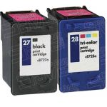 Hewlett Packard (HP) C8727AN Black & C8728AN Tri Ccolor (HP 27 HP 28 Combo-Pack of 2) Replacement Ink Cartridge
