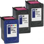 Hewlett Packard (HP) C8727AN Black & C8728AN Tri Ccolor (HP 27 HP 28 Combo-Pack of 3) Replacement Ink Cartridge