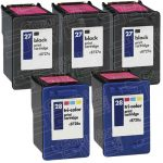 Hewlett Packard (HP) C8727AN Black & C8728AN Tri Ccolor (HP 27 HP 28 Combo-Pack of 5) Replacement Ink Cartridge