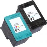 Hewlett Packard HP 92 (C9362WN) Black & HP 93 (C9361WN) Tri Color (Combo Pack of 2) Replacement Ink Cartridge