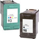 Hewlett Packard HP 98 (C9364WN) Black & HP 93 (C9361WN) Tri Color (Combo Pack of 2) Replacement Ink Cartridge