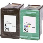 Hewlett Packard (HP) C8765WN Black & C8766WN Tri Color (HP 94 HP 95 Combo Pack of 2) Replacement Ink Cartridge