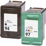 Hewlett Packard HP 94 (C8765WN) Black & HP 97 (C9363WN) Tri Color (Combo Pack of 2) Replacement Ink Cartridge
