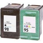 Hewlett Packard HP 98 (C9364WN) Black & HP 95 (C8766WN) Tri Color (Combo Pack of 2) Replacement Ink Cartridge