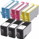 HP 564XL (Combo pack of 9) Replacement High Yield Hewlett Packard 564XL Ink Cartridges with Ink Level Indicator (3 Black, 2 Cyan, 2 Magenta, 2 Yellow)