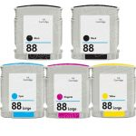 Replacement for Hewlett Packard (HP 88XL) Bulk Set of 5 High Yield Ink Cartridges