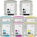 Replacement for Hewlett Packard (HP 88XL) Bulk Set of 8 High Yield Ink Cartridges