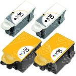 New Compatible #30XL High Yield 1550532 Black & 1341080 Color (Combo 4-Pack) Ink Cartridge for Kodak Printers
