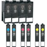 Compatible Replacement for Lexmark (#150XL) Bulk Set of 10 High Yield Ink Cartridge