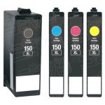 Compatible Replacement for Lexmark (#150XL) Bulk Set of 4 High Yield Ink Cartridge
