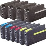 Compatible Replacement for Lexmark (#200XL) Bulk Set of 10 High Yield Ink Cartridge:  4 Black 14L0174 and 2 each of Cyan 14L0175, Magenta 14L0176 & Yellow 14L0177