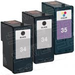 Replacement for Lexmark 18C0034 (#34) 18C0035 (#35 ) Black/Color Bulk Set of 3 Packs High Capacity Ink Cartridge