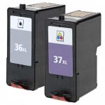 Replacement for Lexmark #36XL (18C2170) & #37XL (18C2180) High Yield Ink Cartridges (Combo-Pack of 2):  1 Black, 1 Color
