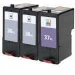 Replacement for Lexmark #36XL (18C2170) & #37XL (18C2180) High Yield Ink Cartridges (Combo-Pack of 3):  2 Black, 1 Color