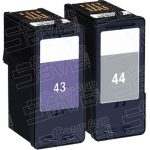 Replacement for Lexmark 18Y0144 (#44XL) Black & 18Y0143 (#43XL) Combo-Pack of 2 High Yield Ink Cartridge