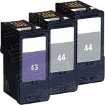Replacement for Lexmark 18Y0144 (#44XL) Black & 18Y0143 (#43XL) Combo-Pack of 3 High Yield Ink Cartridge