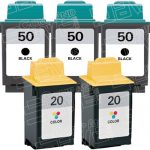 Replacement for Lexmark 17G0050 (#50) Black & 15M0120 (#20) Tri Color Combo-Pack of 5 Ink Cartridge for Lexmark 3100/P3150/P707 Printer