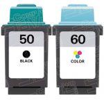 Replacement for Lexmark 17G0050 Black & 17G0060 Tri Color (Lexmark #50 #60 Combo Pack of 2) Ink Cartridge