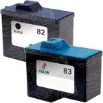 Replacement for Lexmark 18L0032 (#82) Black & 18L0042 (#83) Tri Color Combo-Pack of 2 Inkjet Cartridge