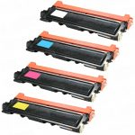 Brother New Compatible TN210 Bulk Set of 4 (TN210BK, TN210C, TN210M, TN210Y) Laser Toner Cartridge